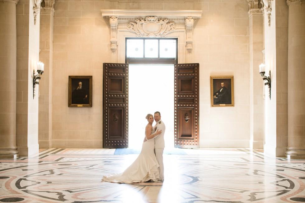USNA Bancroft Hall epic wedding photos