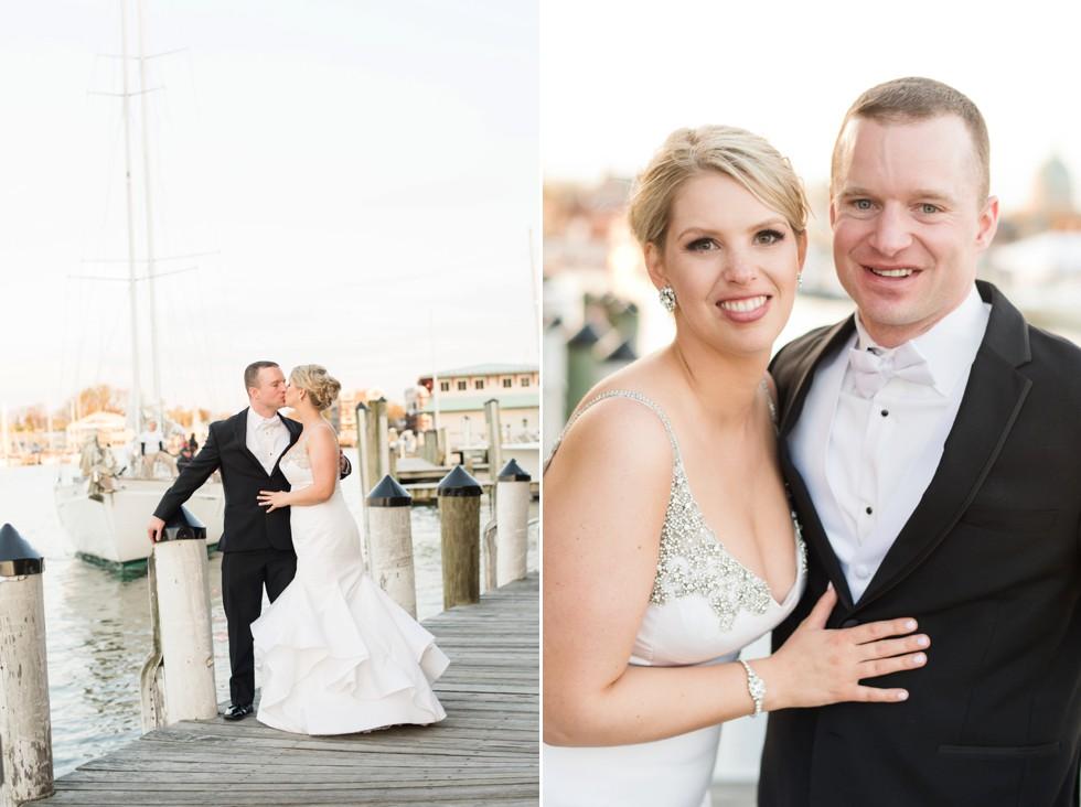 Annapolis waterfront hotel wedding on Woodwind Schooner