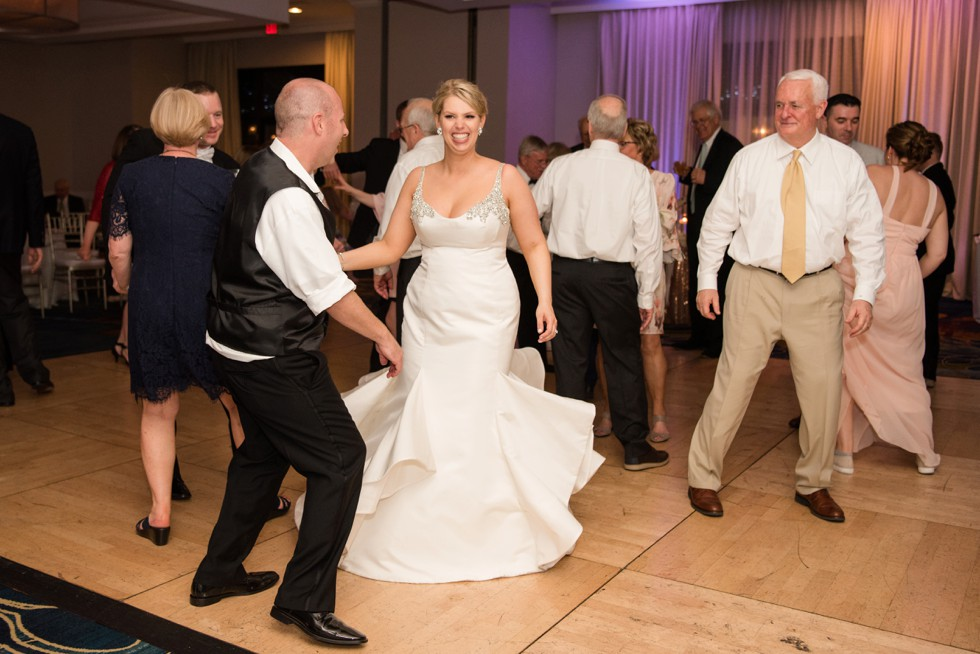 twirling bride at Annapolis Waterfront Hotel, Autograph Collection