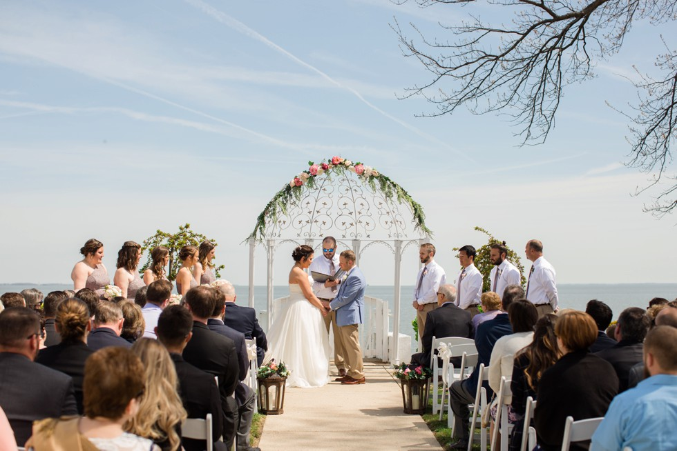 Celebrations at the Bay noon wedding ceremony