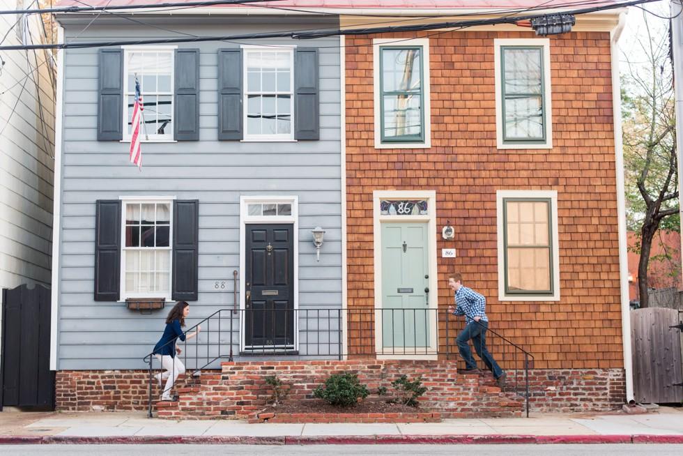 East Street Annapolis engagement photos
