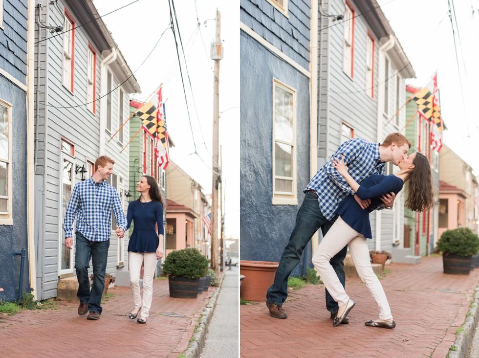 maryland flag engagement photo