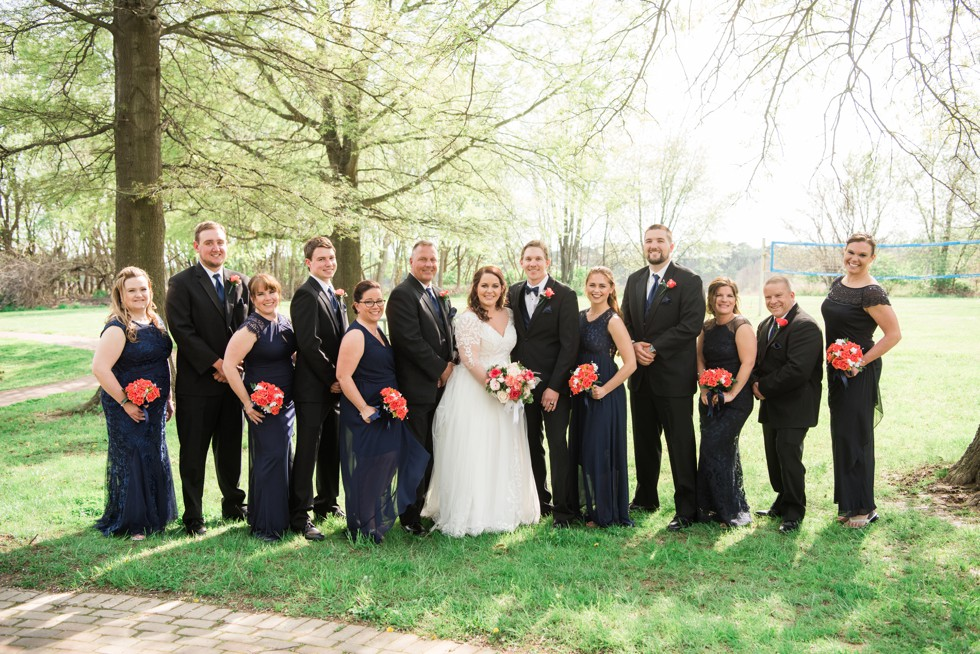 Historic Kent Manor Inn Spring wedding party