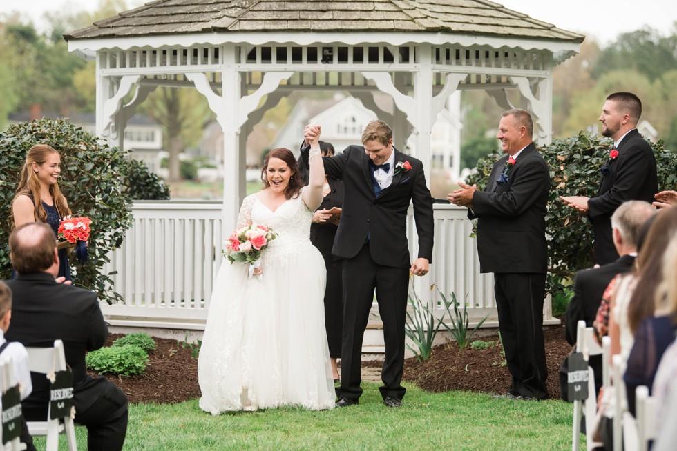 Outdoor spring wedding ceremony