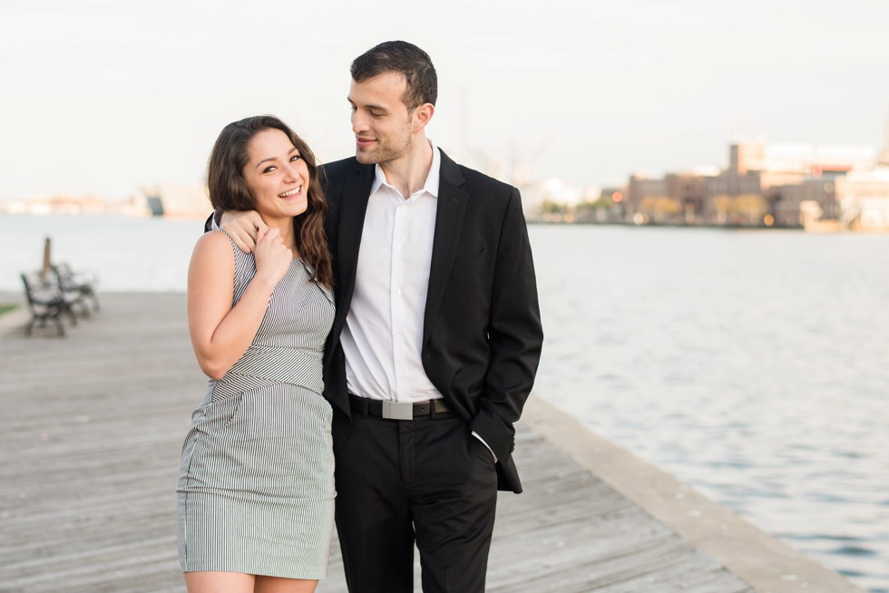 engagement photos on the water