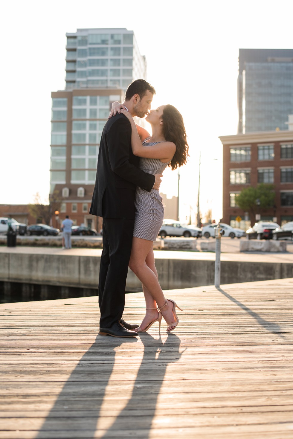 waterfront engagement photos