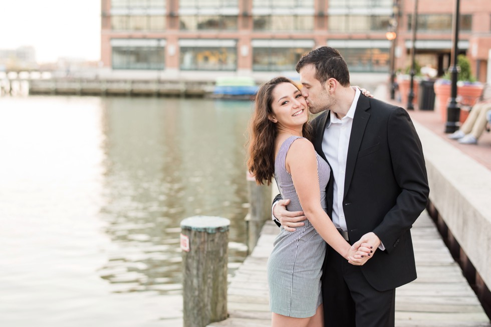 Fells Point engagement photos at Sagamore Pendry