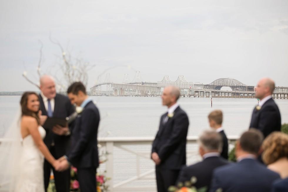 Eastern Shore beach wedding ceremony