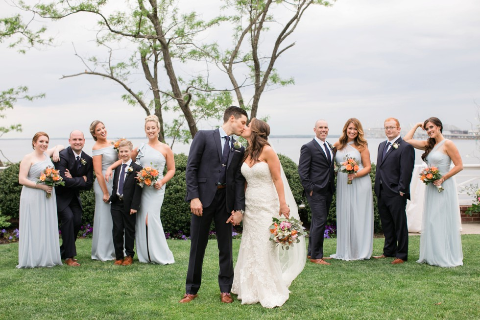 Chesapeake Bay Beach Club Eastern Shore wedding party