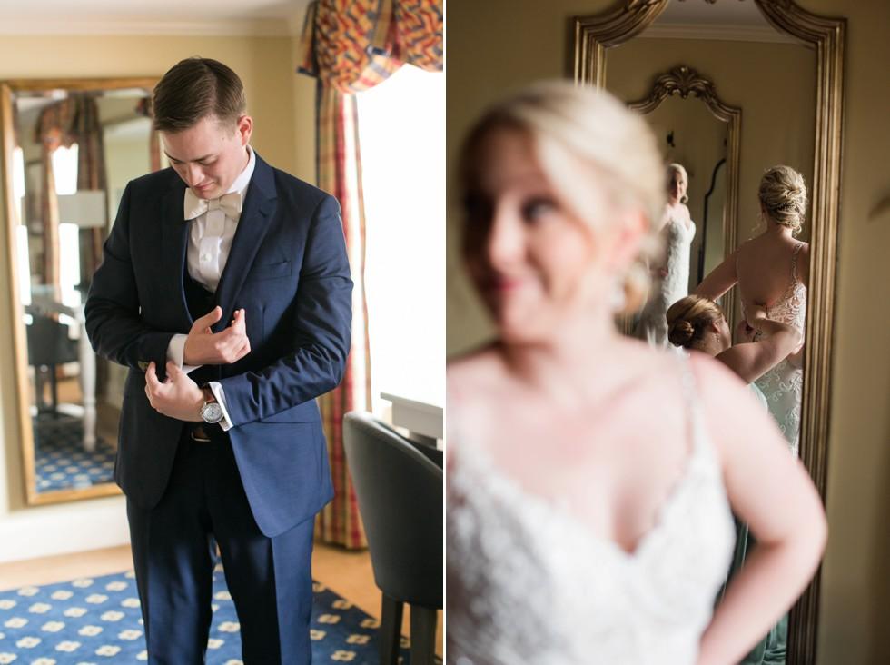 Tidewater Inn groom getting ready
