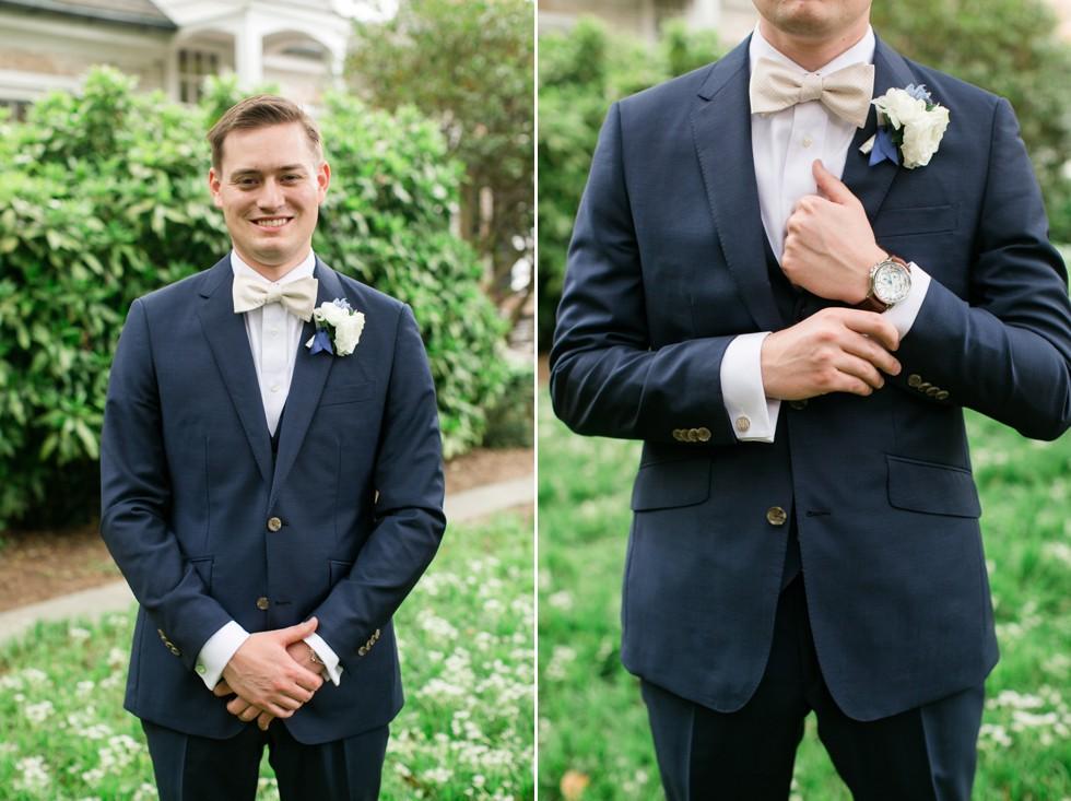Indochino custom tux Tidewater Inn groom