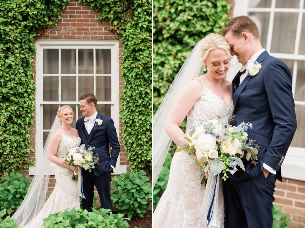 The Tidewater Inn Easton MD Wedding photos ivy wall