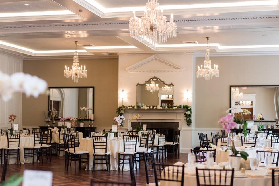The Tidewater Inn wedding reception Crystal Room