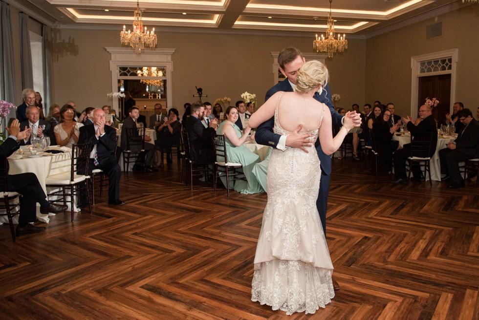 The Tidewater Inn Crystal Room wedding first dance