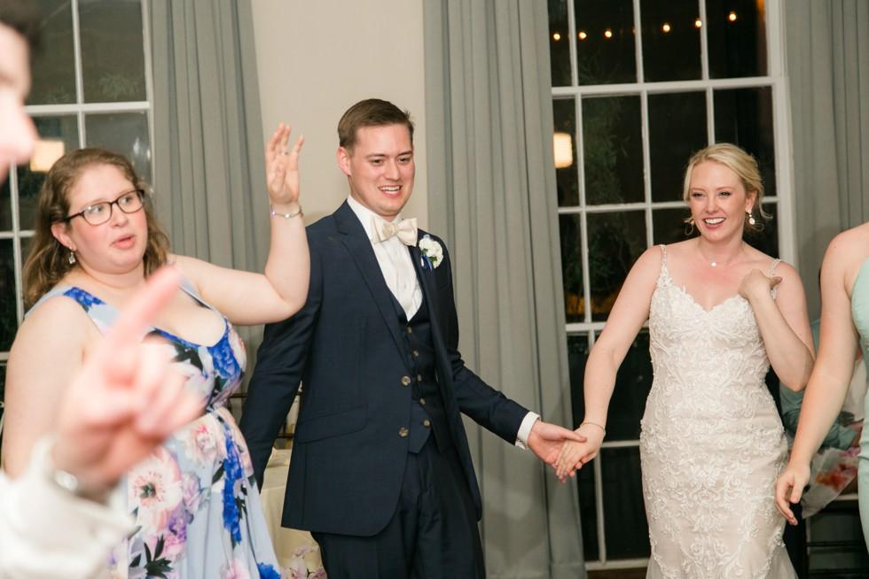The Tidewater Inn Crystal Room wedding reception