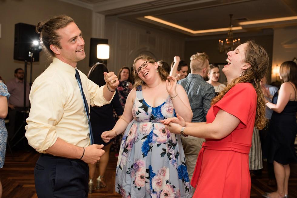 Mixing Maryland DJs wedding reception