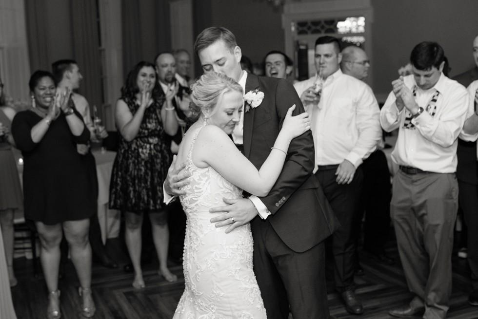 The Tidewater Inn wedding reception last dance