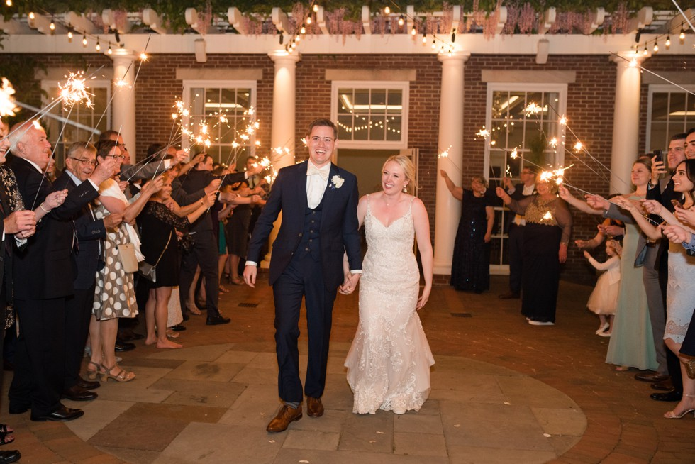 The Tidewater Inn wedding sparkler exit