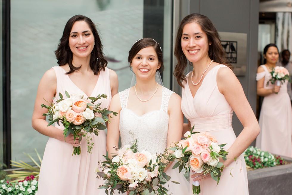 Four Seasons Hotel Baltimore bridesmaid couple portraits