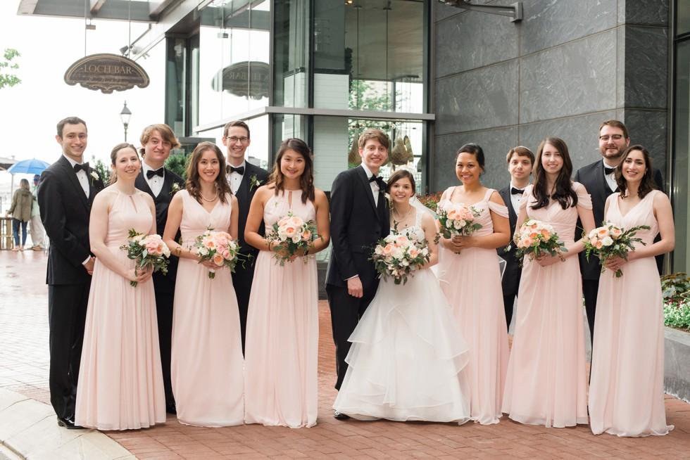 Four Seasons Hotel Baltimore wedding party