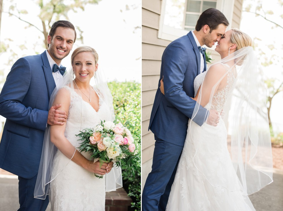 wedding photo of bride and groom