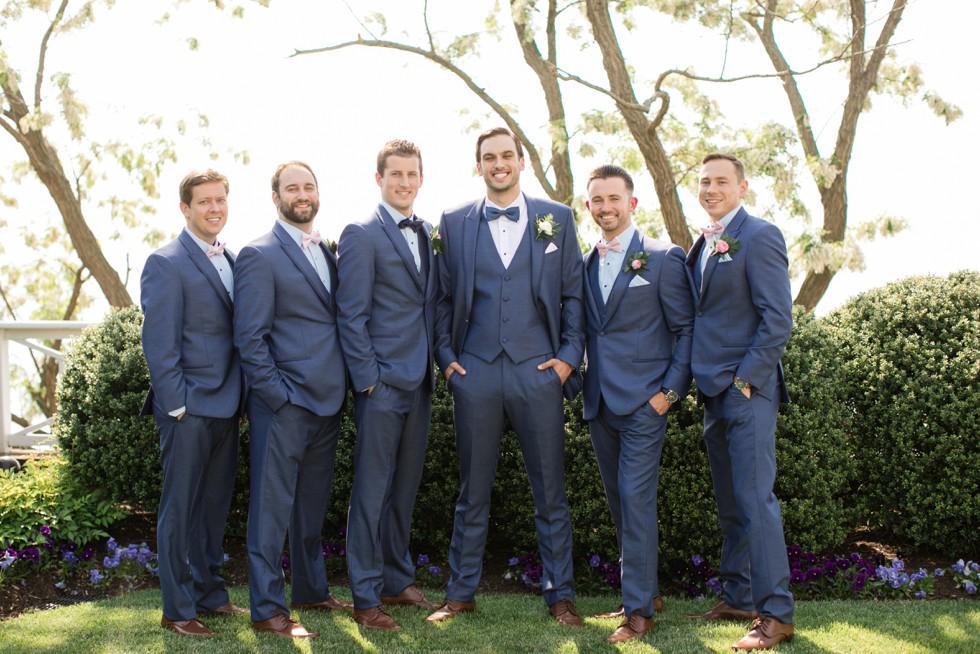 Capital Custom Clothier groom navy tux