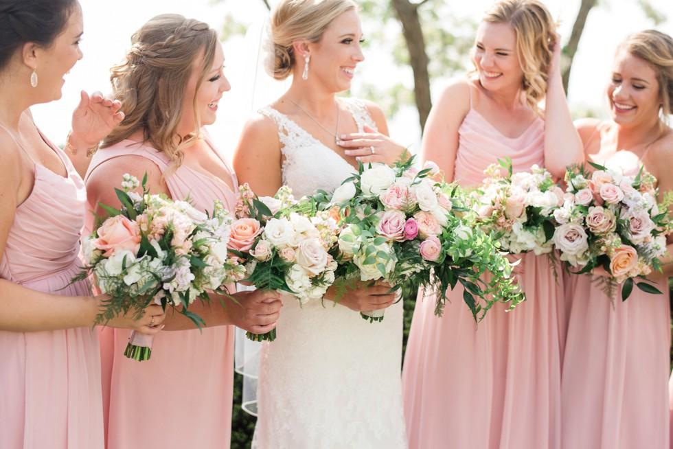 Monteray Farms floral blush pink bridesmaid dress Weddington Way