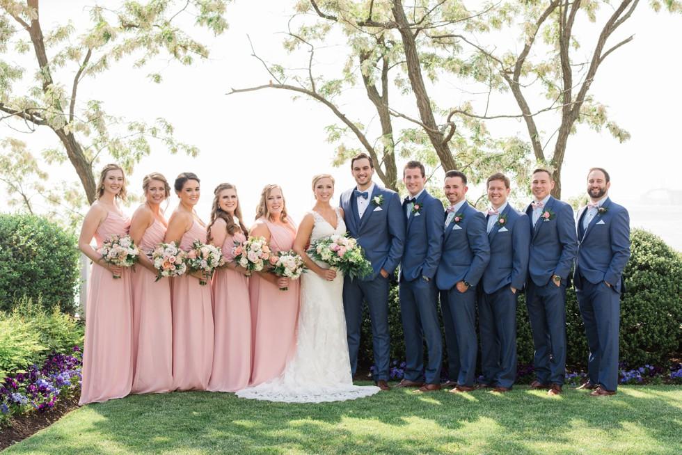 blush pink wedding party