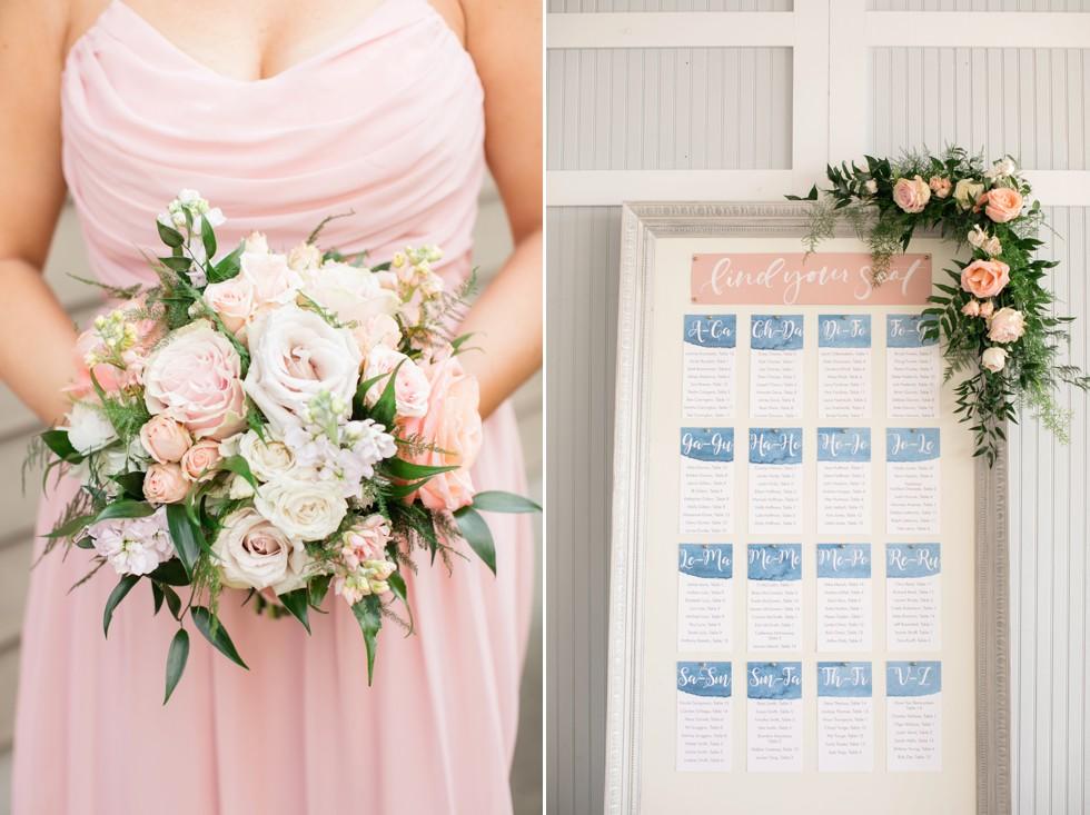 Beach wedding escort cards