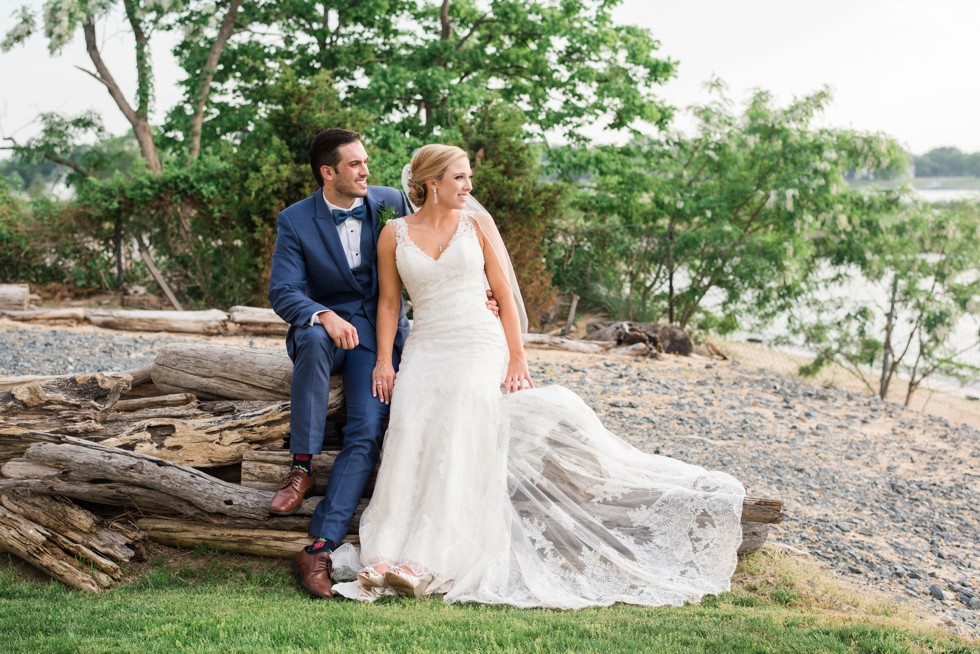 Chesapeake Bay bride and groom