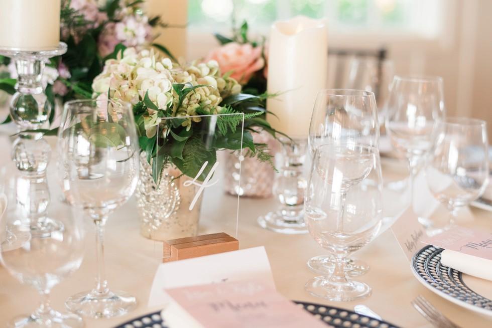 Eastern Shore wedding indoor reception