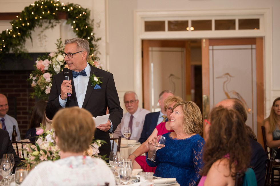 Eastern Shore indoor wedding reception