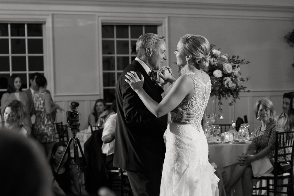 Eastern Shore wedding father daughter dance
