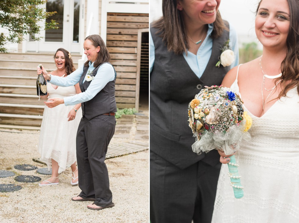 Fenwick Island beach house wedding