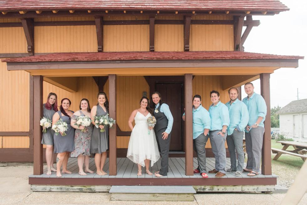 Delaware Brides beach wedding party