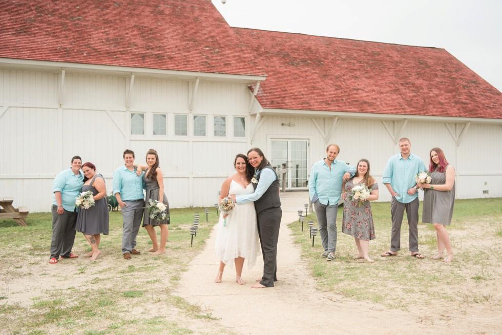 Indian River Life Saving Station brides wedding party