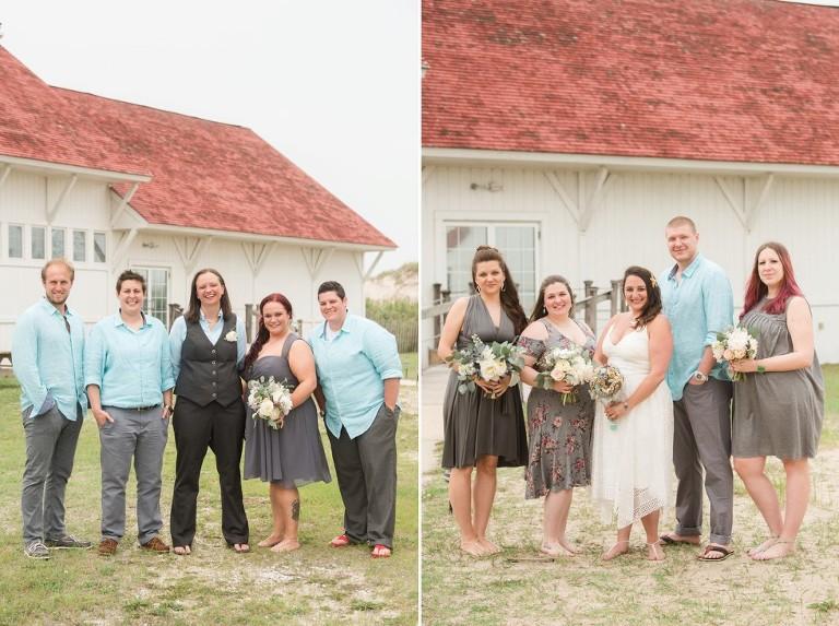 Indian River Life Saving Station Wedding Party