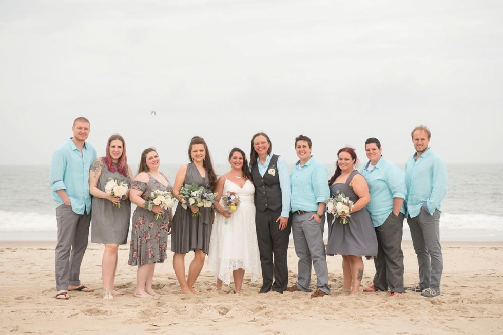 Rehoboth Beach wedding party