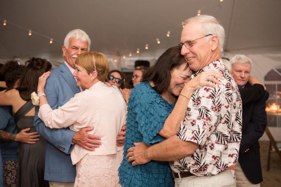 Rehoboth Delaware Beach tented wedding reception