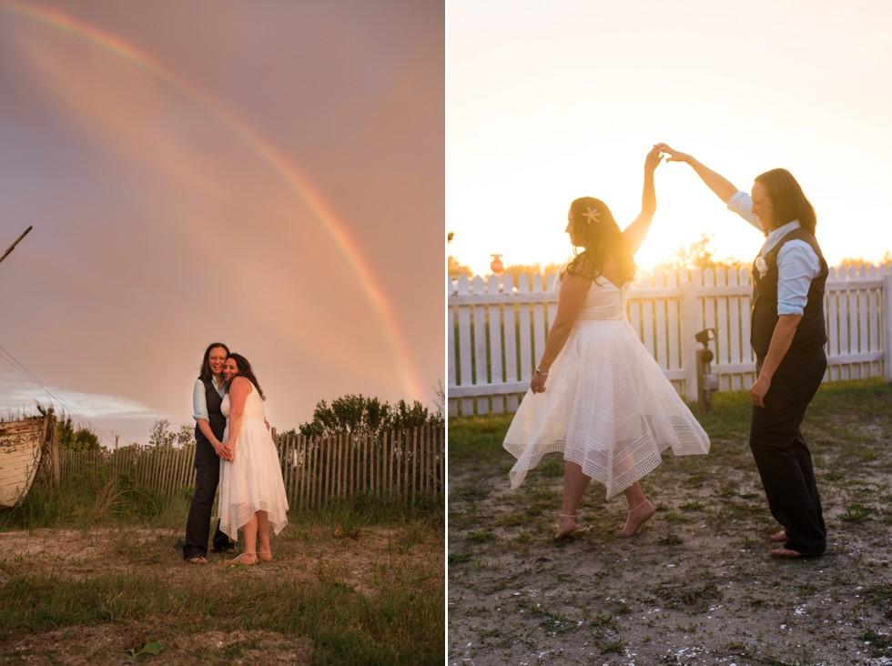 Indian River Life Saving Station wedding Rainbow