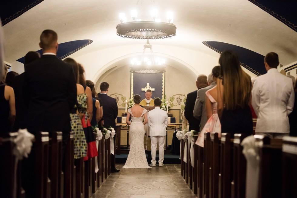 USNA St Andrews Chapel Wedding Ceremony