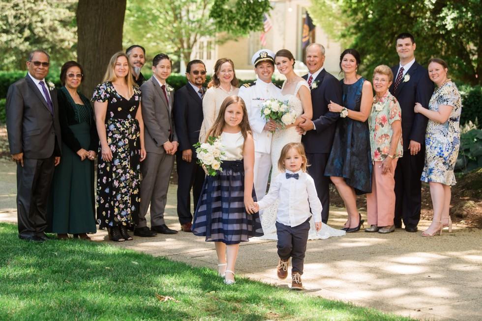 US Naval Academy Wedding family photos
