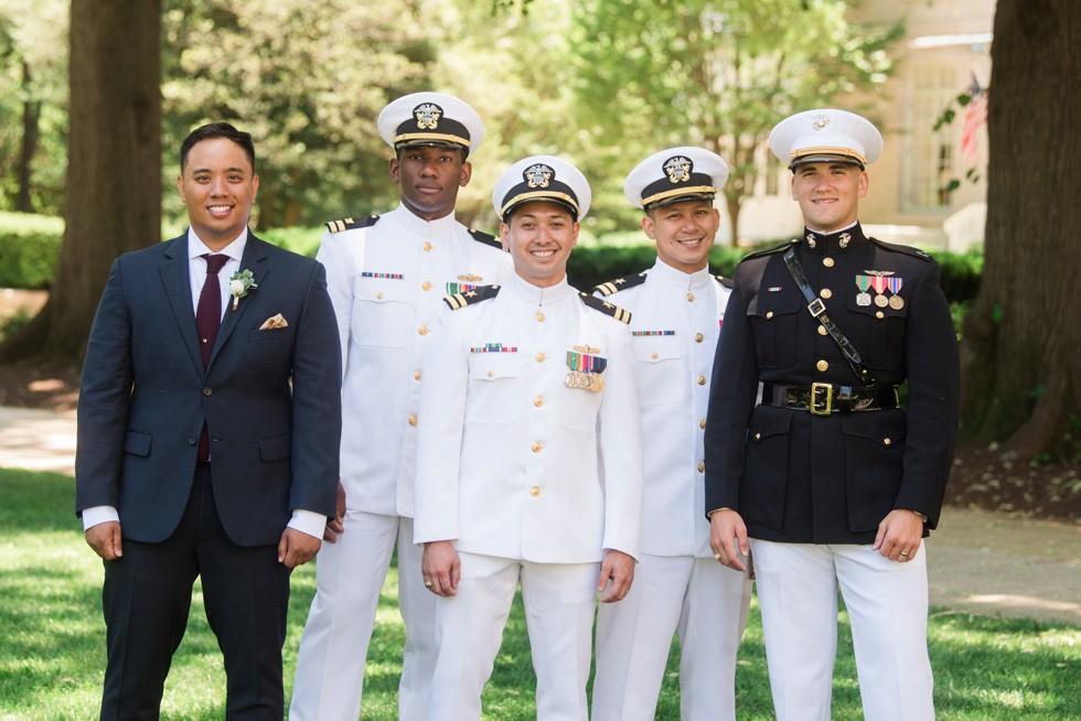 US Naval Academy Wedding party