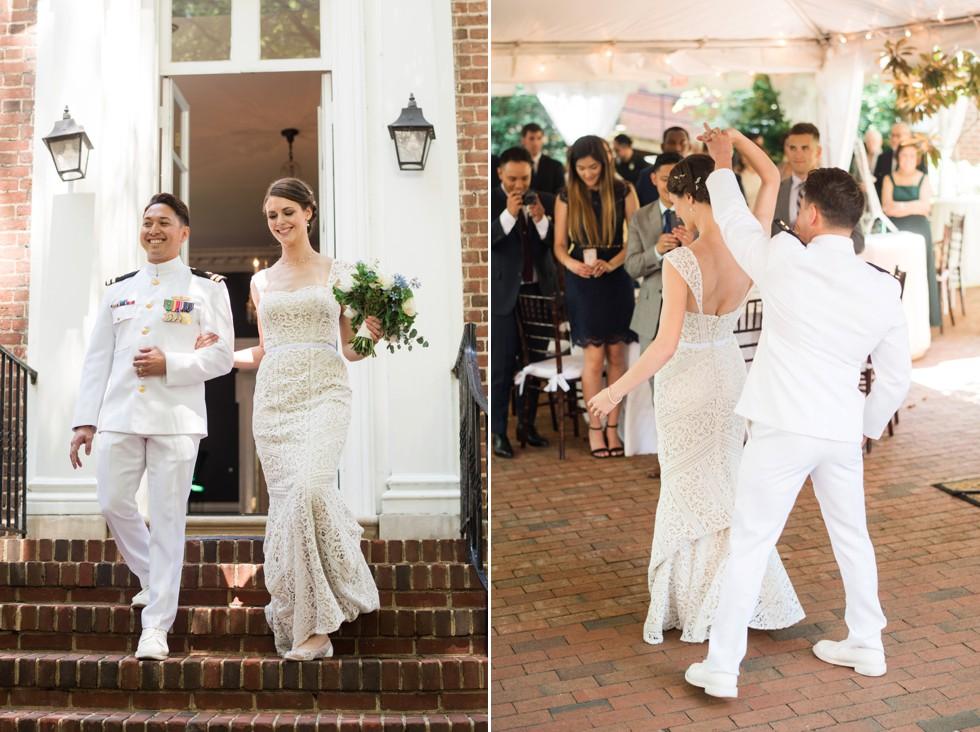 Historic Ogle Hall Outdoor Wedding Reception