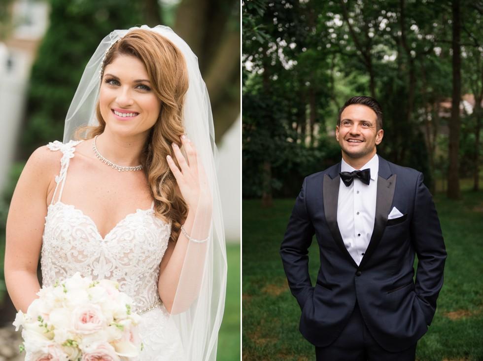 Newtown Square wedding bride groom portraits