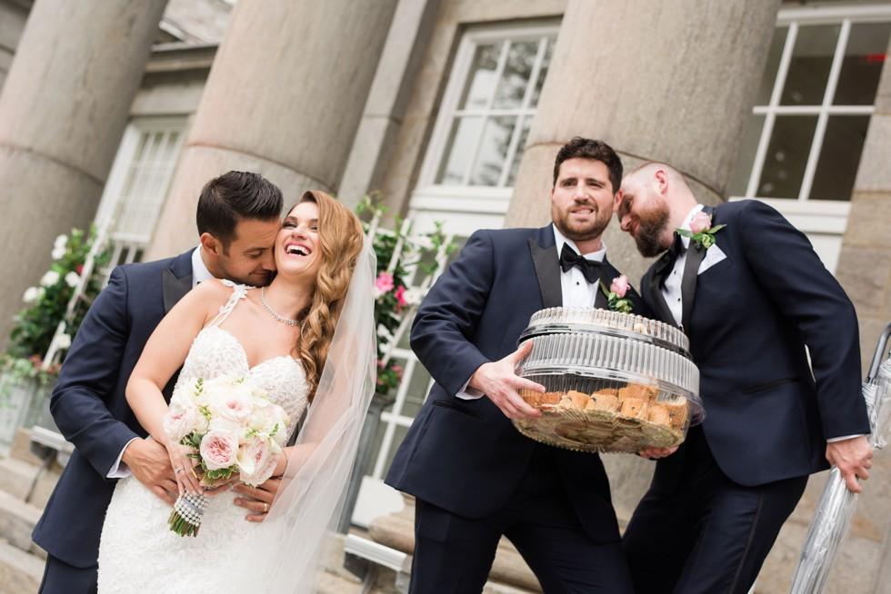 Ballroom at Ellis Preserve Newtown Square funny Wedding