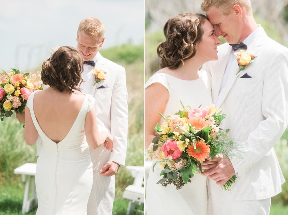 Addy Sea Bethany Beach Wedding First Look