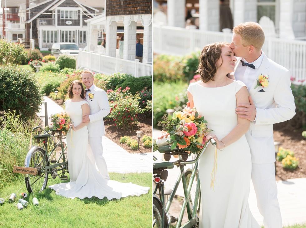 Addy Sea Bethany Beach Wedding bride and groom