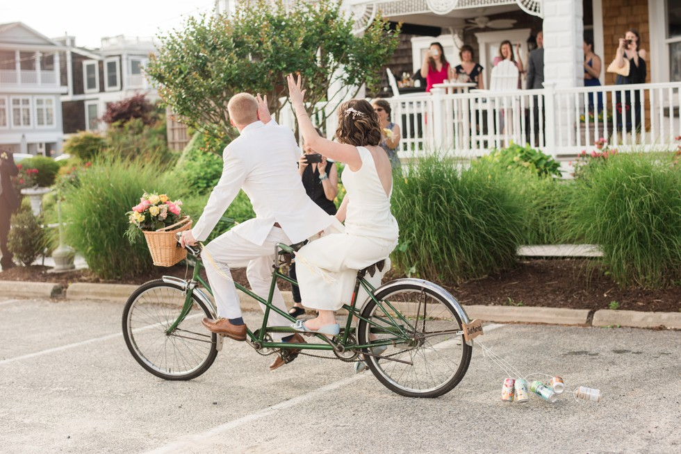 bicycle built for two wedding photo