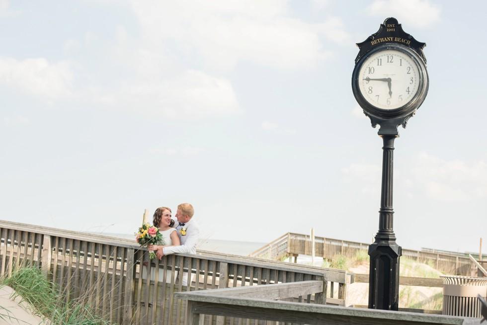 Bethany Beach boardwalk wedding